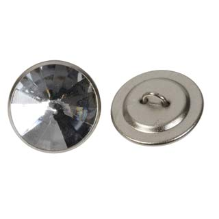 Clockwork Components 20mm Clear Gemstone Button (code: BTN009)