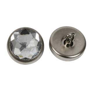 Clockwork Components Guziki ozdobne 17mm Clear Gemstone Button (code: BTN019)