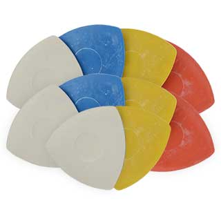 Clockwork Components Chalk Triangles Assorted Colours (code: CT051AS)