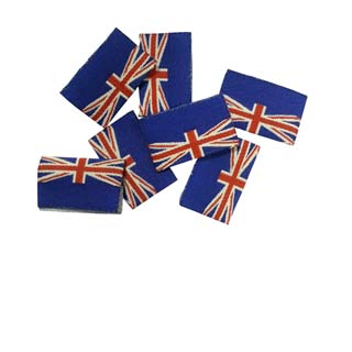 Clockwork Components Etykieta wszywana 'GB' Union Jack (code: DL8)