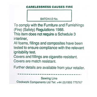 Clockwork Components Etykieta Carelessness Causes Fire Label    (code: PL21)