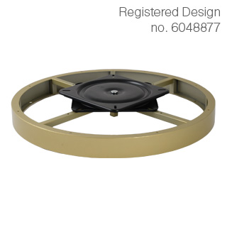 Clockwork Components Decorative hoop with swivel plate (code: RCM-6529GLD-M8)