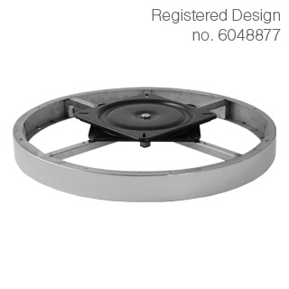 Clockwork Components Decorative hoop with swivel plate (code: RCM-6529P-M8)