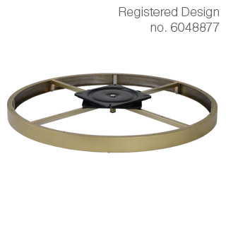 Clockwork Components Decorative hoop with swivel plate (code: RCM-6692GLD-M8)