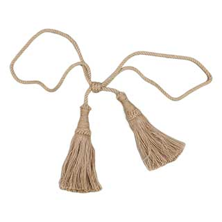 Clockwork Components Jute Tie Back - Large Tassel (code: TAS027)