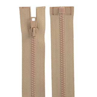 "Clockwork Components No.3 - 15"" Open End Cut Length Moulded Zip (code: ZIP3M15BGOE)"