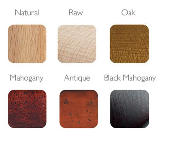 Available finishes.